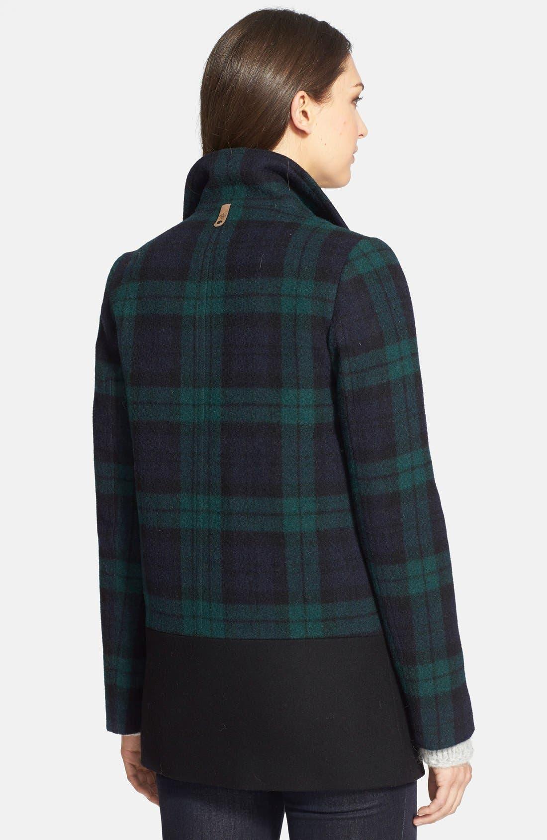 Alternate Image 2  - Mackage 'Berta' Asymmetrical Wool Blend Plaid Coat