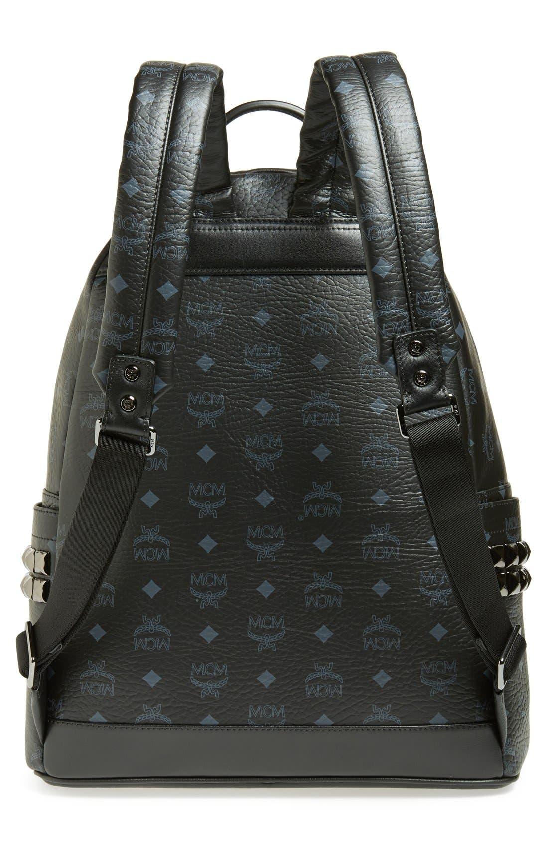 Alternate Image 4  - MCM 'Medium Stark - Visetos' Studded Logo Print Backpack