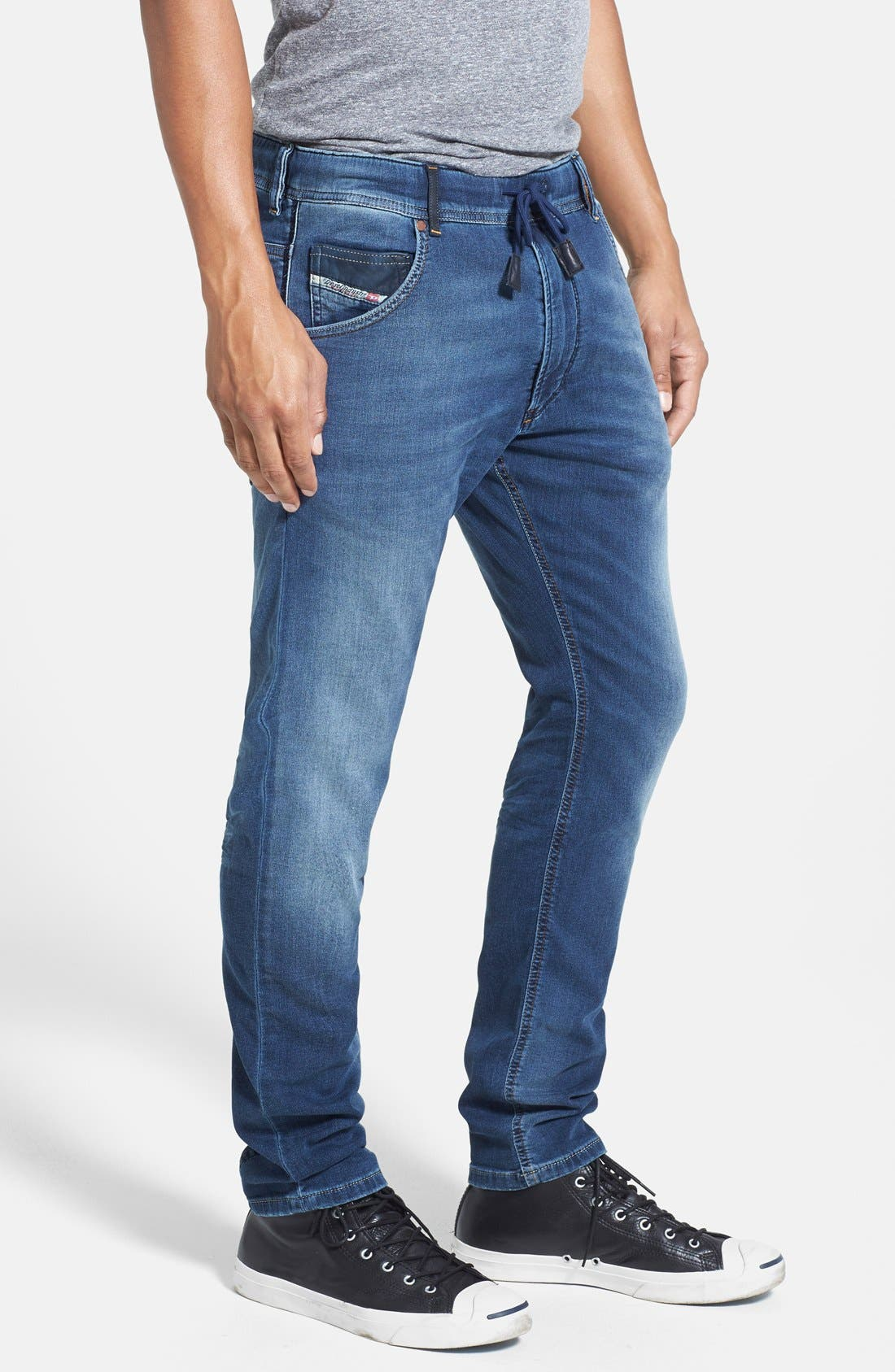 Alternate Image 3  - DIESEL® 'Krooley - Jogg Jeans' Tapered Leg Sweatpants