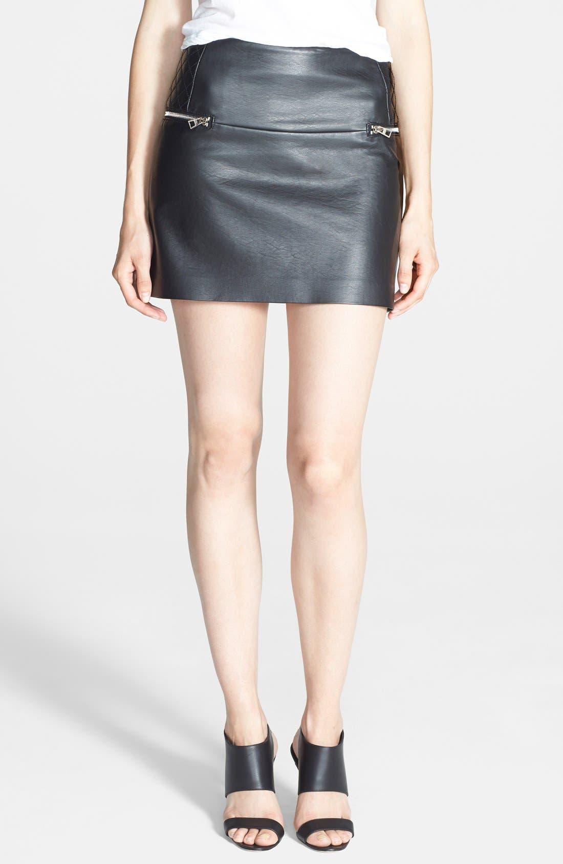 Main Image - Sam Edelman Faux Leather Miniskirt