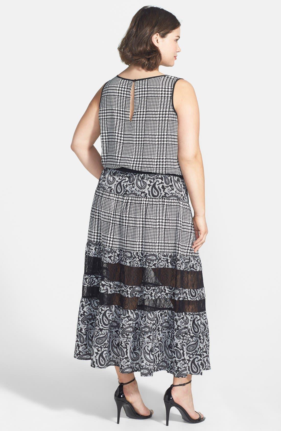 Alternate Image 2  - MICHAEL Michael Kors 'Lazio' Mix Print Maxi Dress (Plus Size)