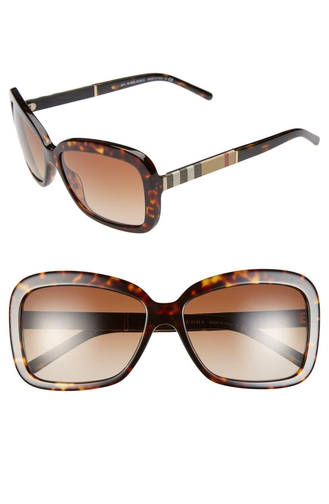 Alternate Image 1 Selected - Burberry 58mm Retro Sunglasses