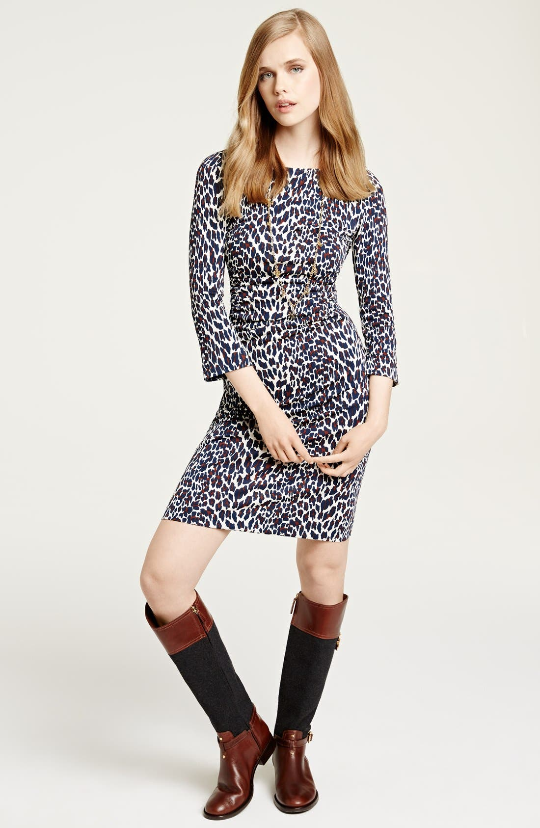 Main Image - Tory Burch Print Jersey Crepe Sheath Dress