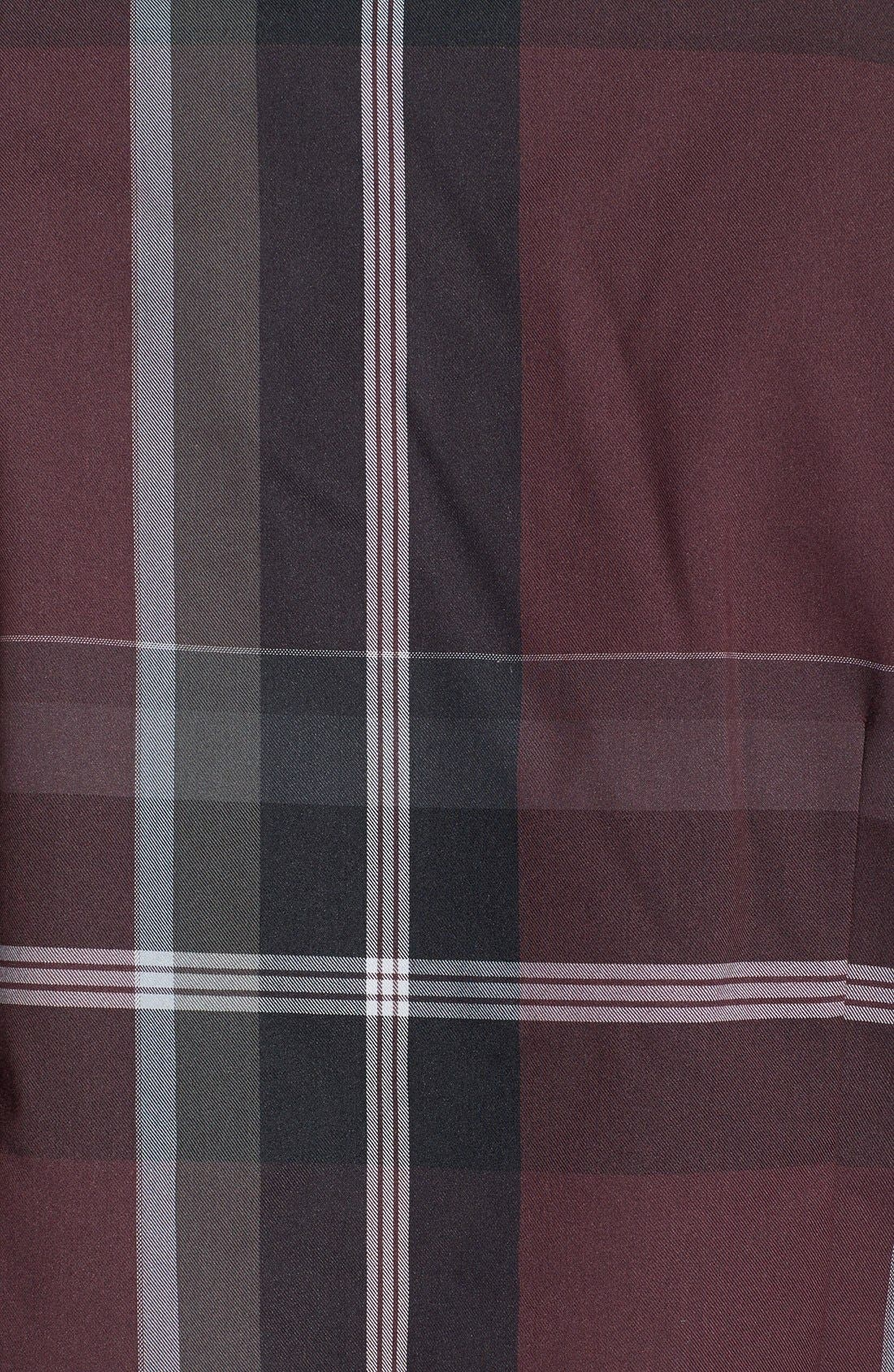 'All In One' Sport Shirt,                             Alternate thumbnail 3, color,                             Berry