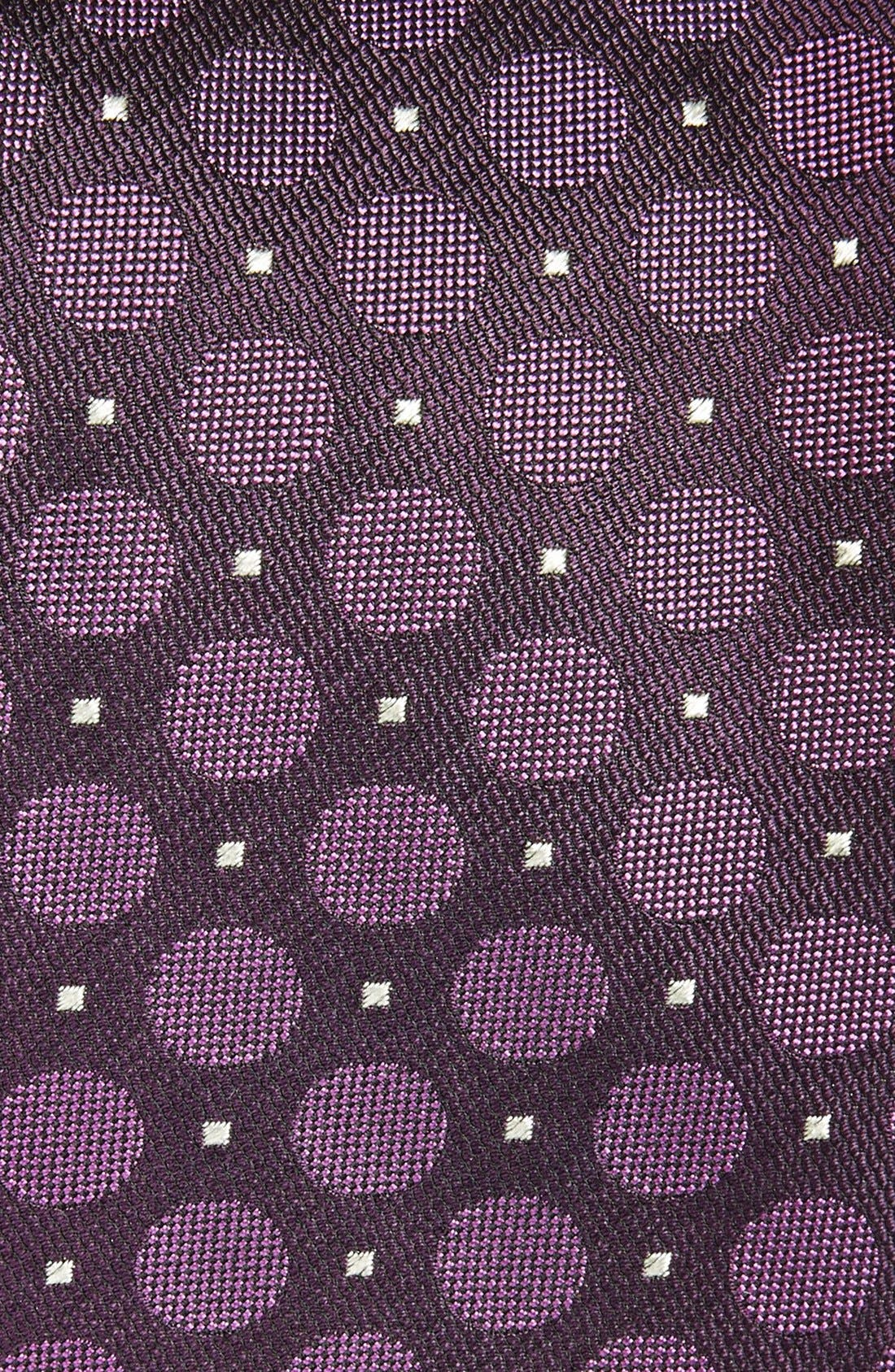 Alternate Image 2  - Canali Dot Woven Silk Tie
