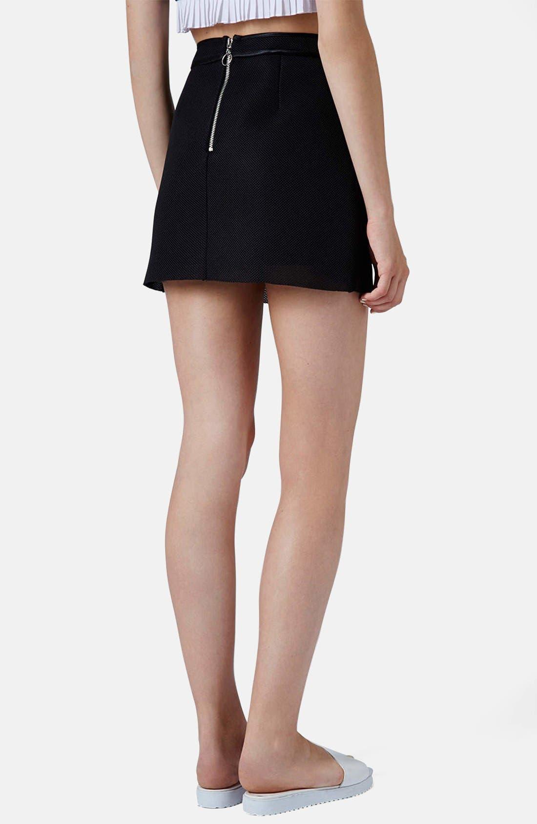 Alternate Image 2  - Topshop Airtex Miniskirt