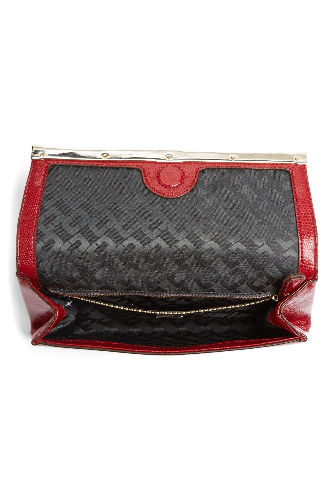 Alternate Image 3  - Diane von Furstenberg '440' Embossed Leather Envelope Clutch
