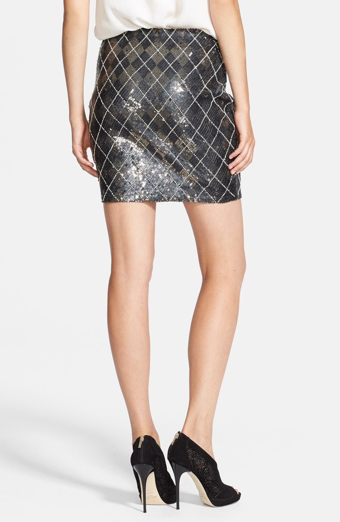 Alternate Image 2  - Haute Hippie Sequin Argyle Skirt