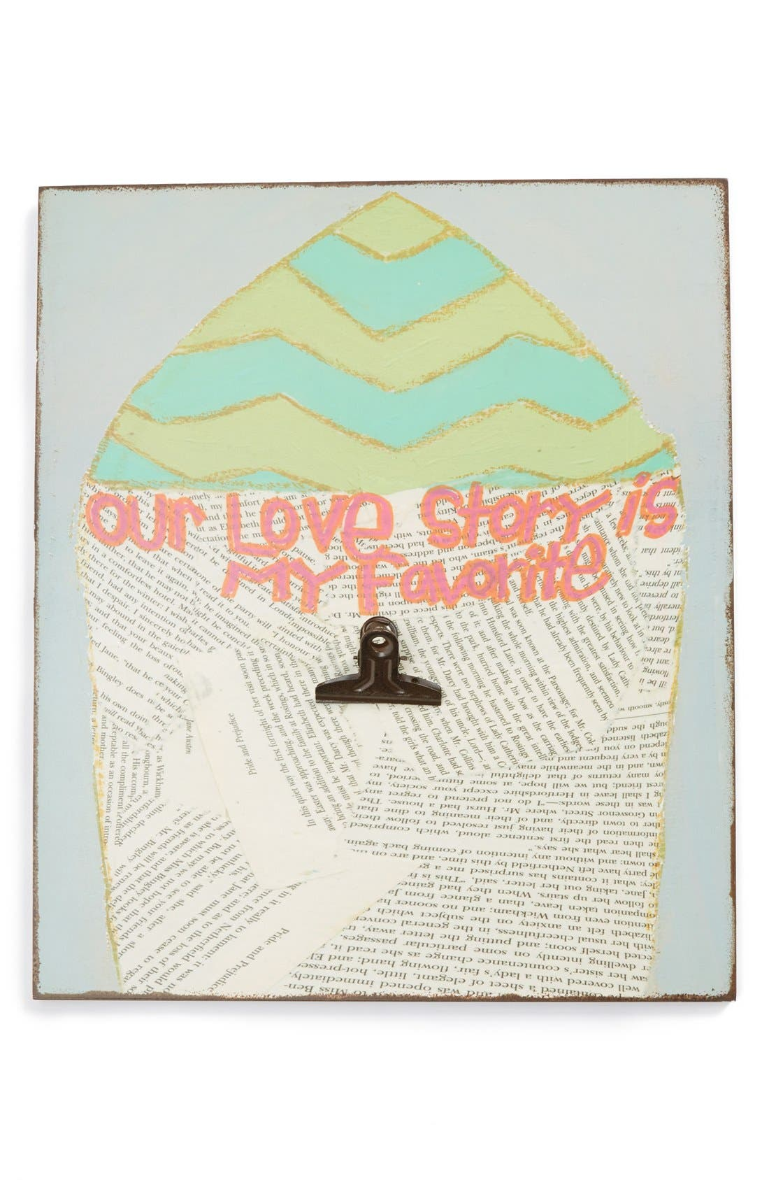 Alternate Image 1 Selected - Creative Co-Op 'Our Love Story Is My Favorite' Wall Art