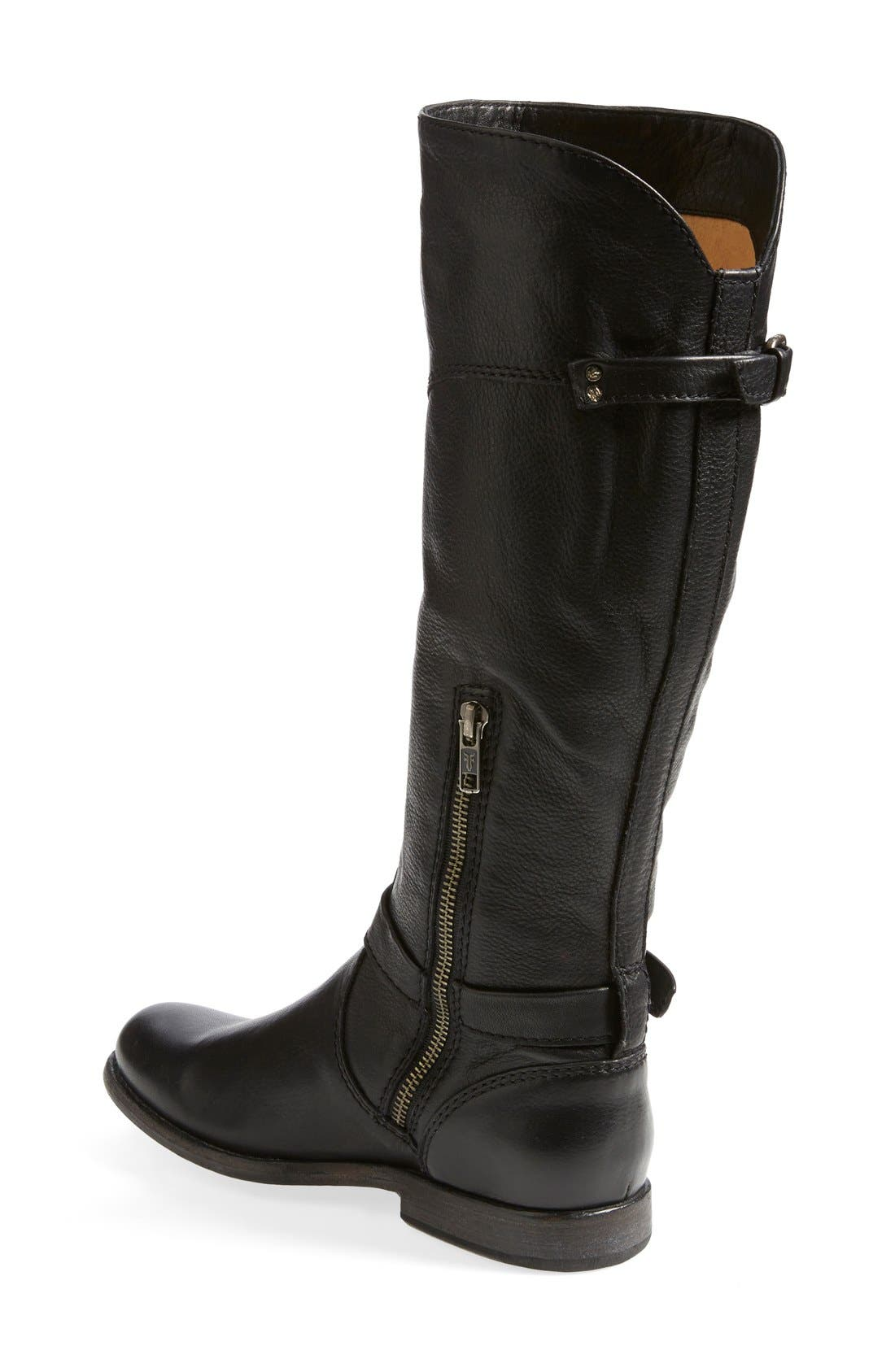 'Phillip' Riding Boot,                             Alternate thumbnail 2, color,                             Black