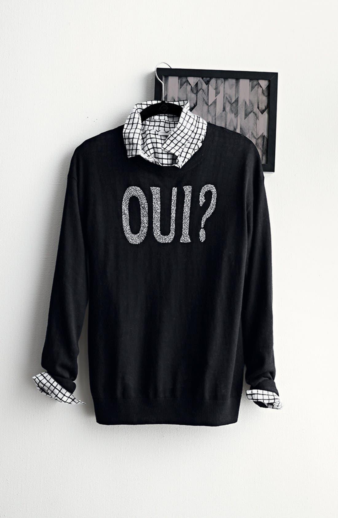 Alternate Image 10  - Halogen® Print Cotton & Silk Shirt (Regular & Petite)