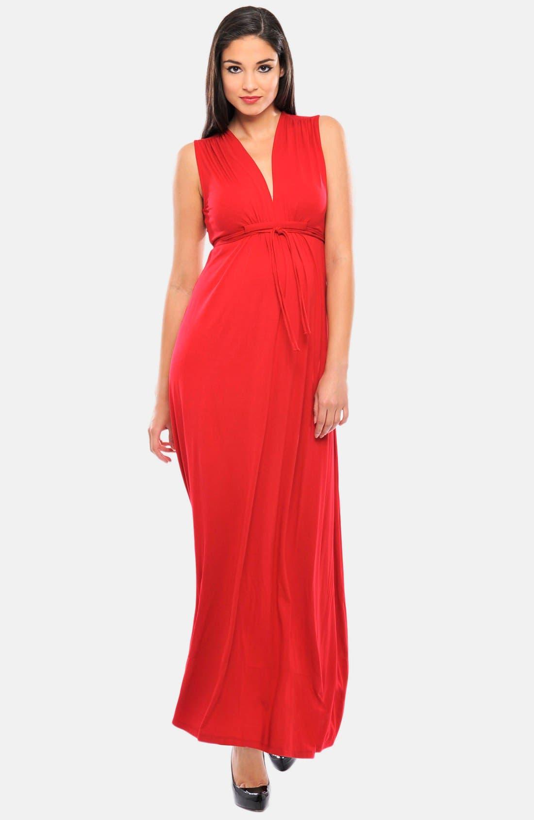 Main Image - Olian Lucy Maternity Maxi Dress