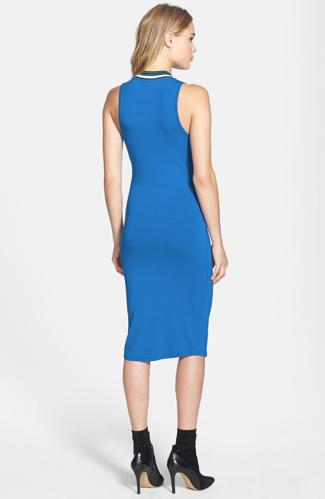 Alternate Image 2  - Topshop Contrast Trim Jersey Midi Dress (Nordstrom Exclusive)