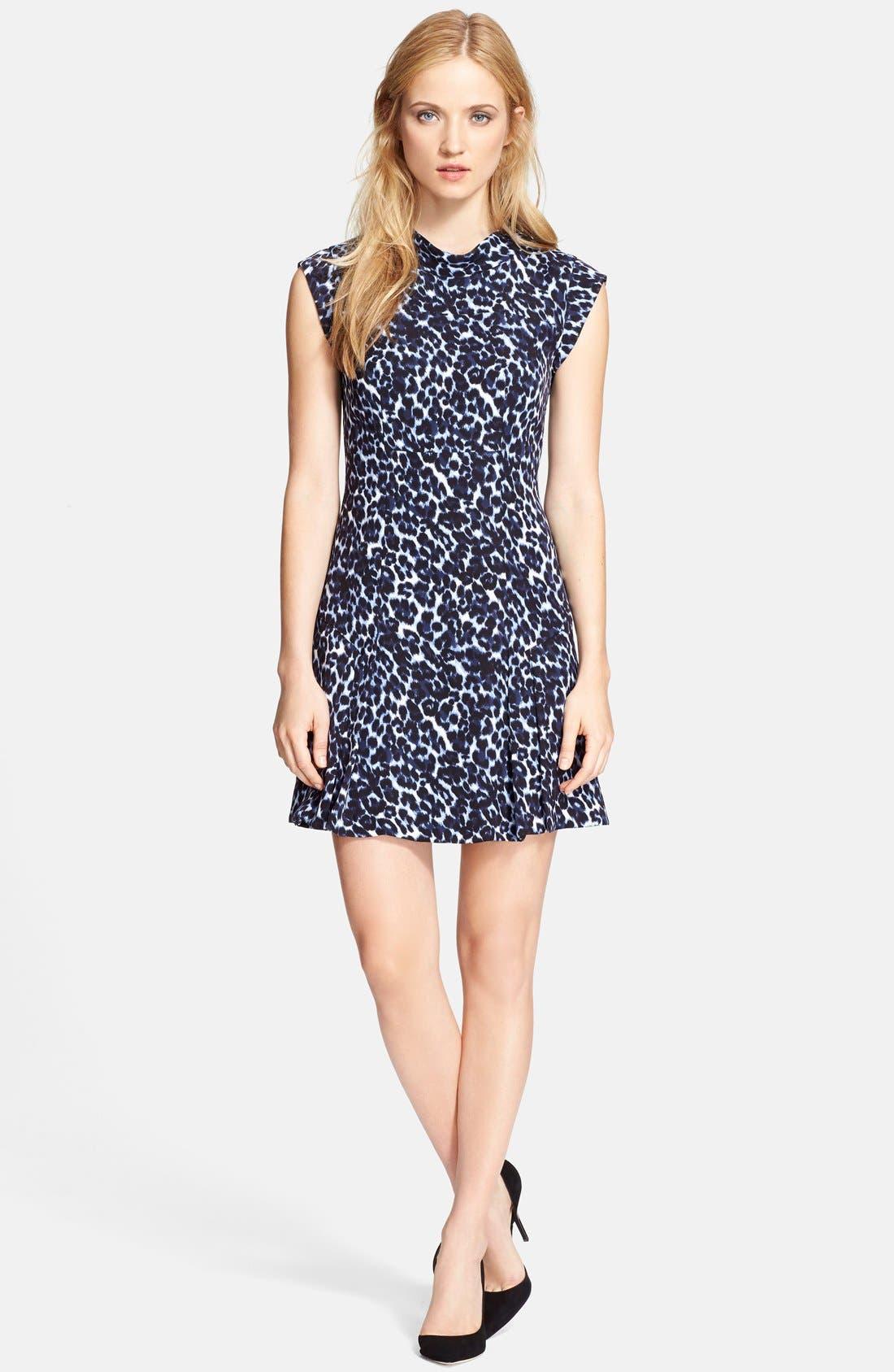 Alternate Image 1 Selected - Rebecca Taylor Sleeveless Mock Neck Dress