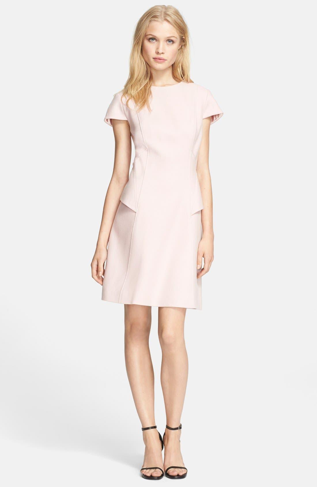 Main Image - Ted Baker London 'Coralen' Structured Wool Blend Sheath Dress