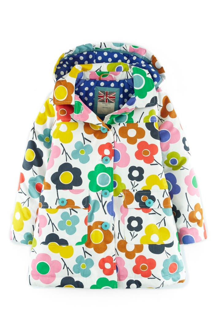 Mini boden fun waterproof hooded jacket toddler girls for Shop mini boden