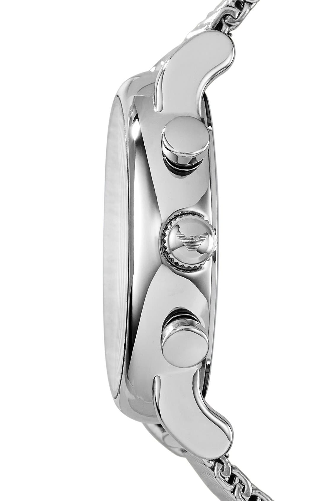 Alternate Image 3  - Emporio Armani Chronograph Mesh Strap Watch, 46mm