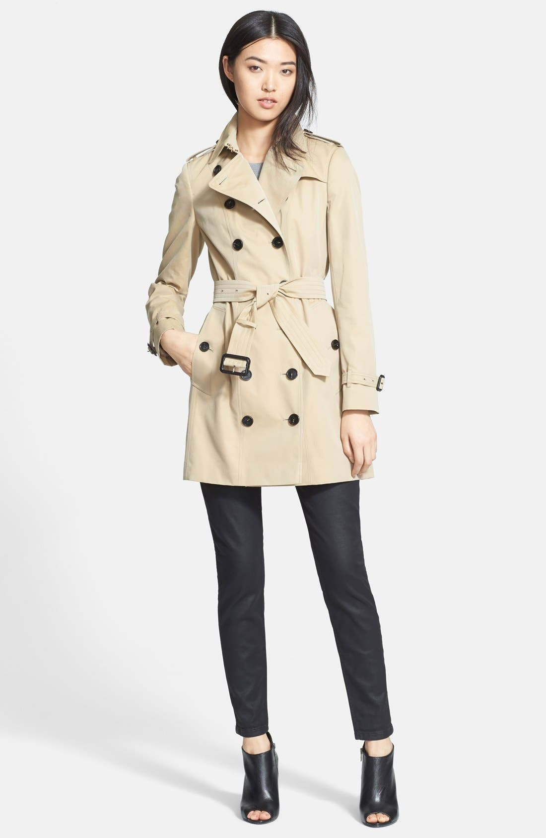 Alternate Image 3  - Burberry London Double Breasted Trench Coat