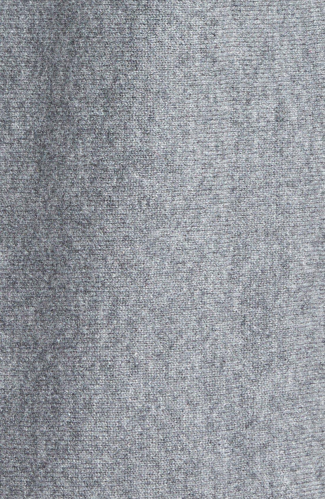 Cashmere Shirttail Sweater,                             Alternate thumbnail 3, color,                             Medium Heather Grey