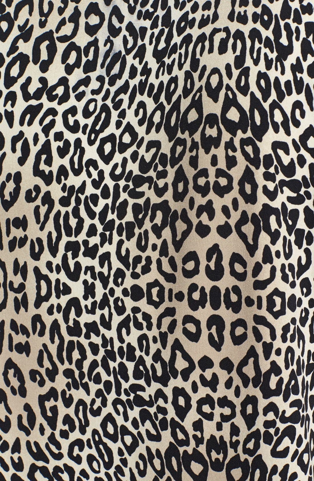 Alternate Image 3  - Vince Camuto 'Desert Leopard' Chiffon Sleeve Top (Plus Size)
