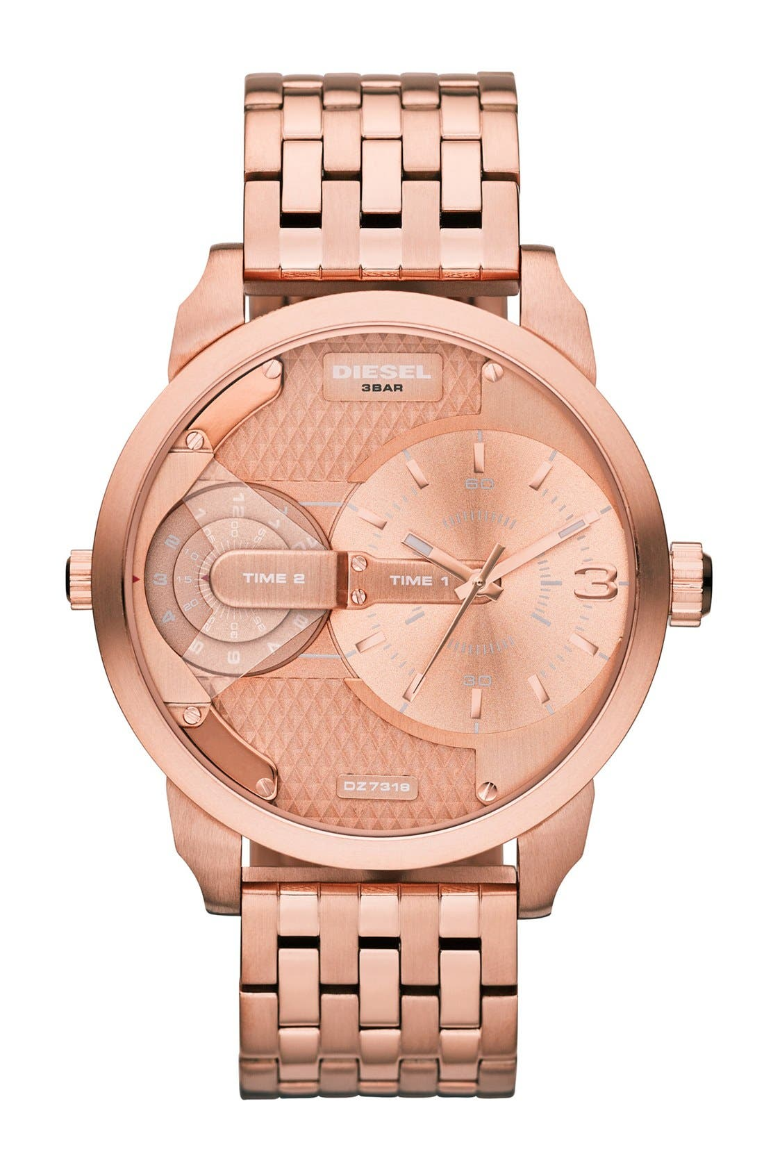Alternate Image 1 Selected - DIESEL® 'Mini Daddy' Multi Movement Bracelet Watch, 46mm