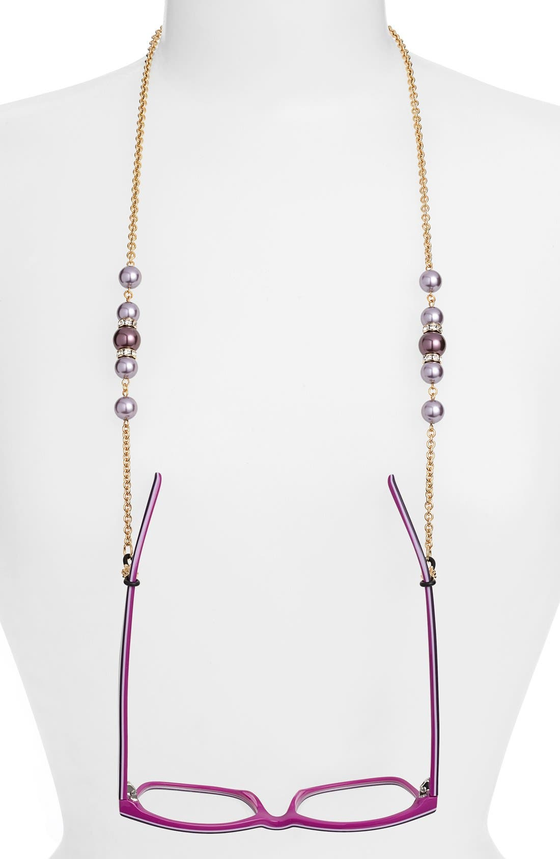 Alternate Image 1 Selected - L. Erickson 'Cadabra' Swarovski Crystal Eyeglass Chain