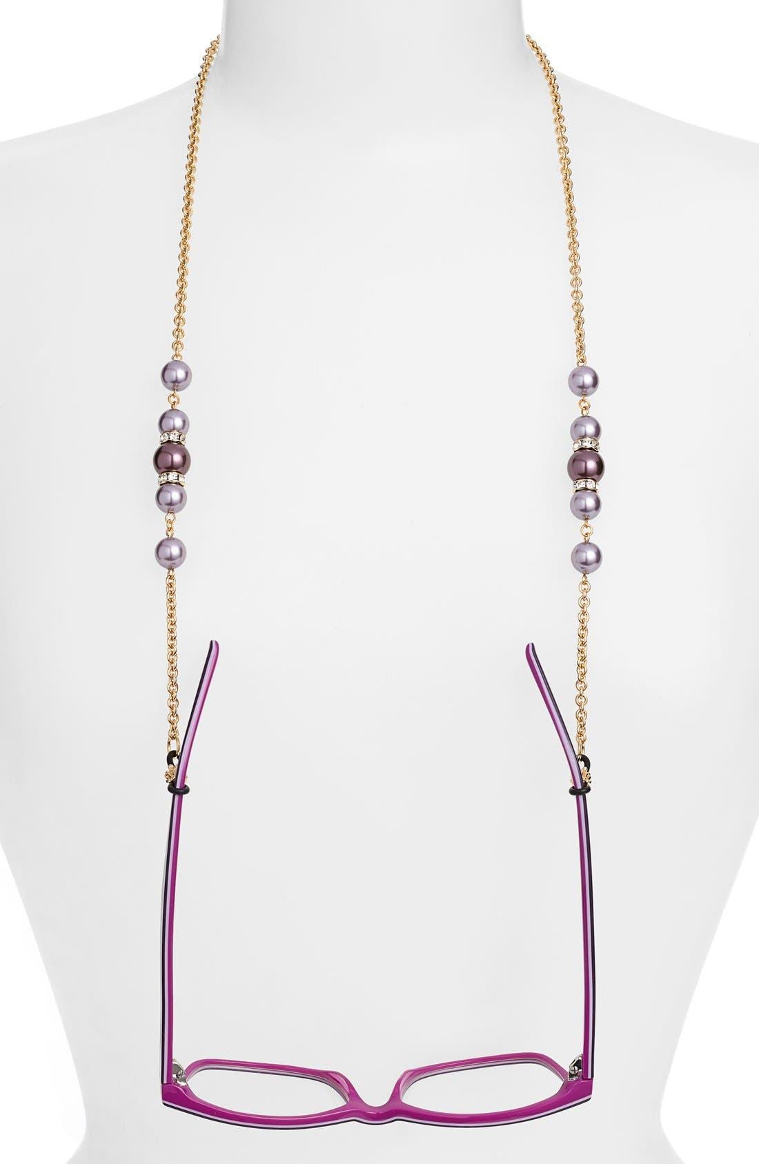 'Cadabra' Swarovski Crystal Eyeglass Chain,                         Main,                         color, Burgundy/ Gold