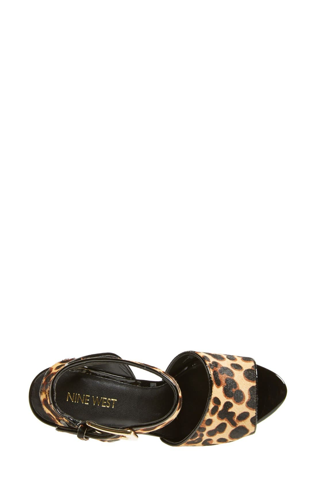 Alternate Image 3  - Nine West 'Leighann' Calf Hair Wedge Sandal (Women)