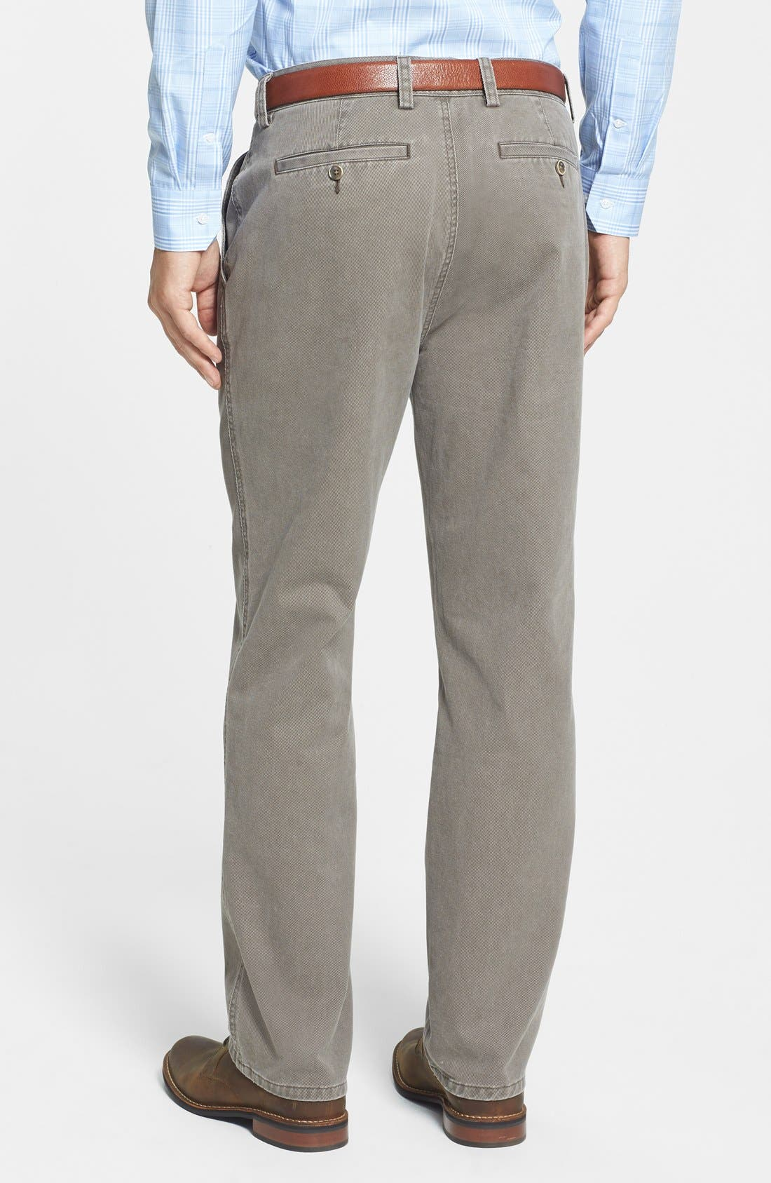 Alternate Image 2  - Cutter & Buck Curtis Flat Front Five-Pocket Cotton Twill Pants