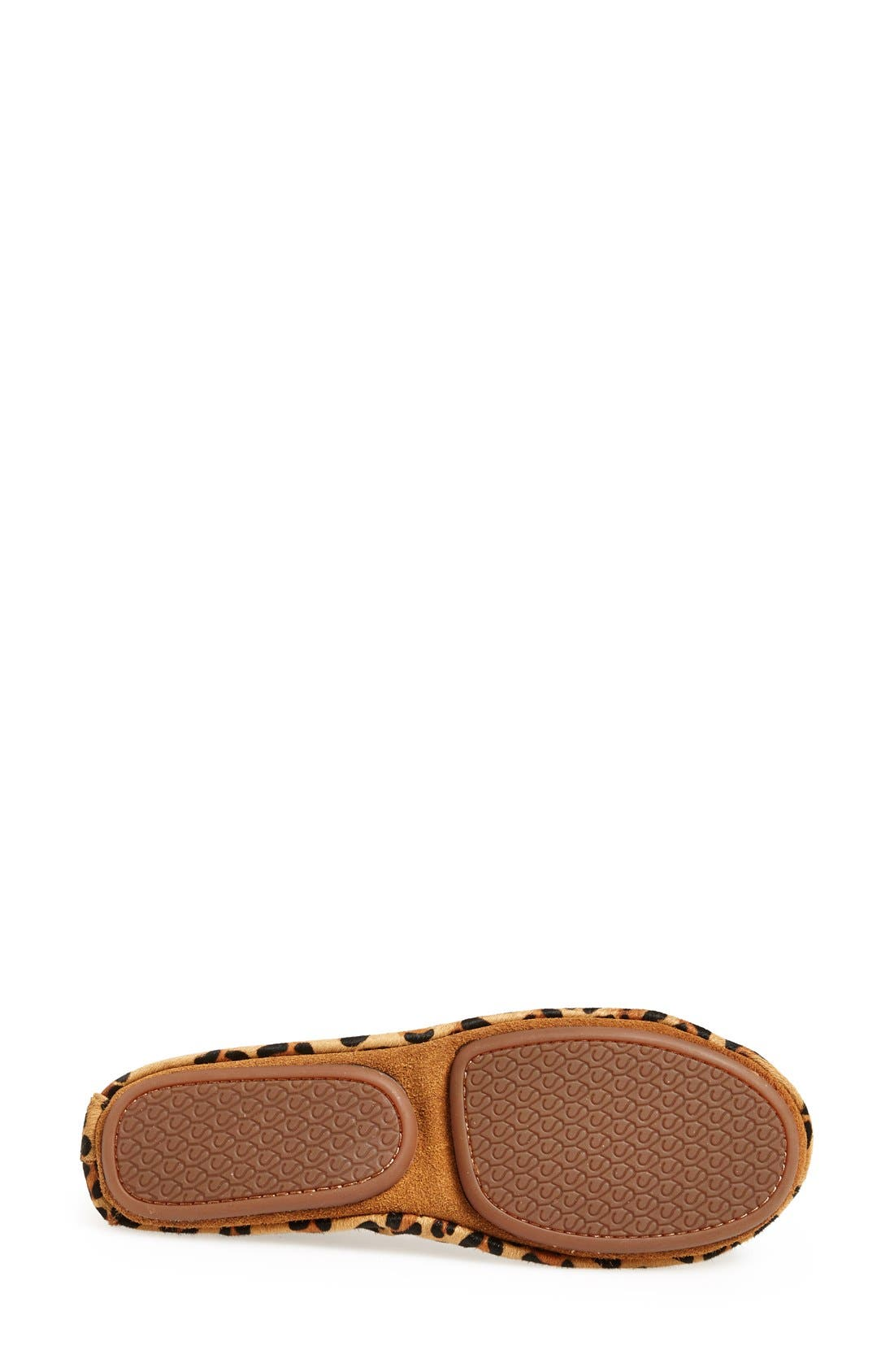 'Samara' Genuine Calf Hair Foldable Ballet Flat,                             Alternate thumbnail 4, color,                             Leopard