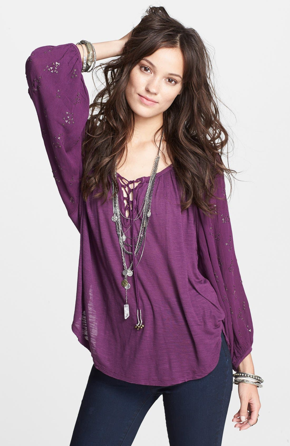 Alternate Image 1 Selected - Free People 'Golden Nugget' Top