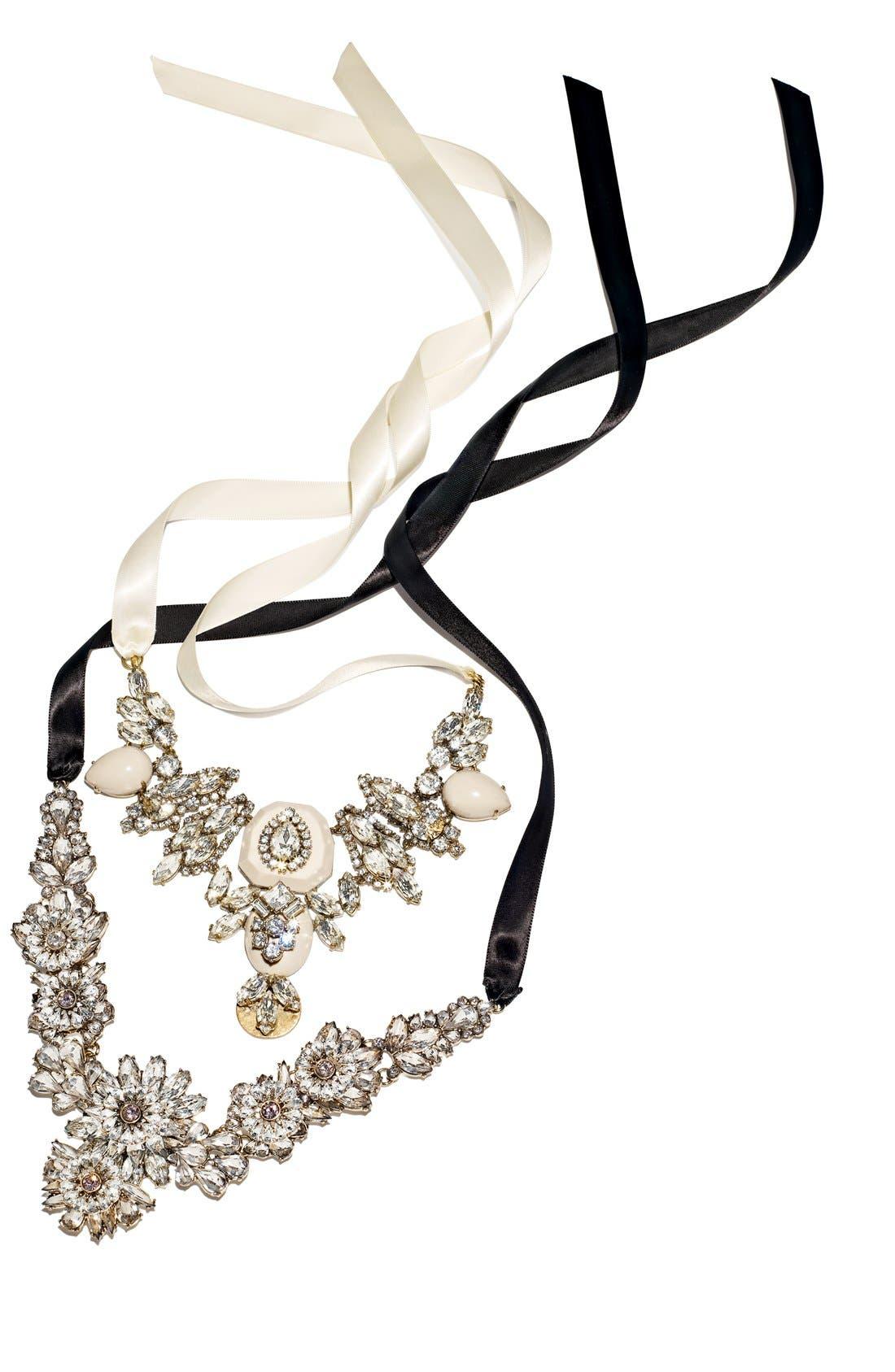 Alternate Image 2  - Tasha Ribbon Collar Necklace