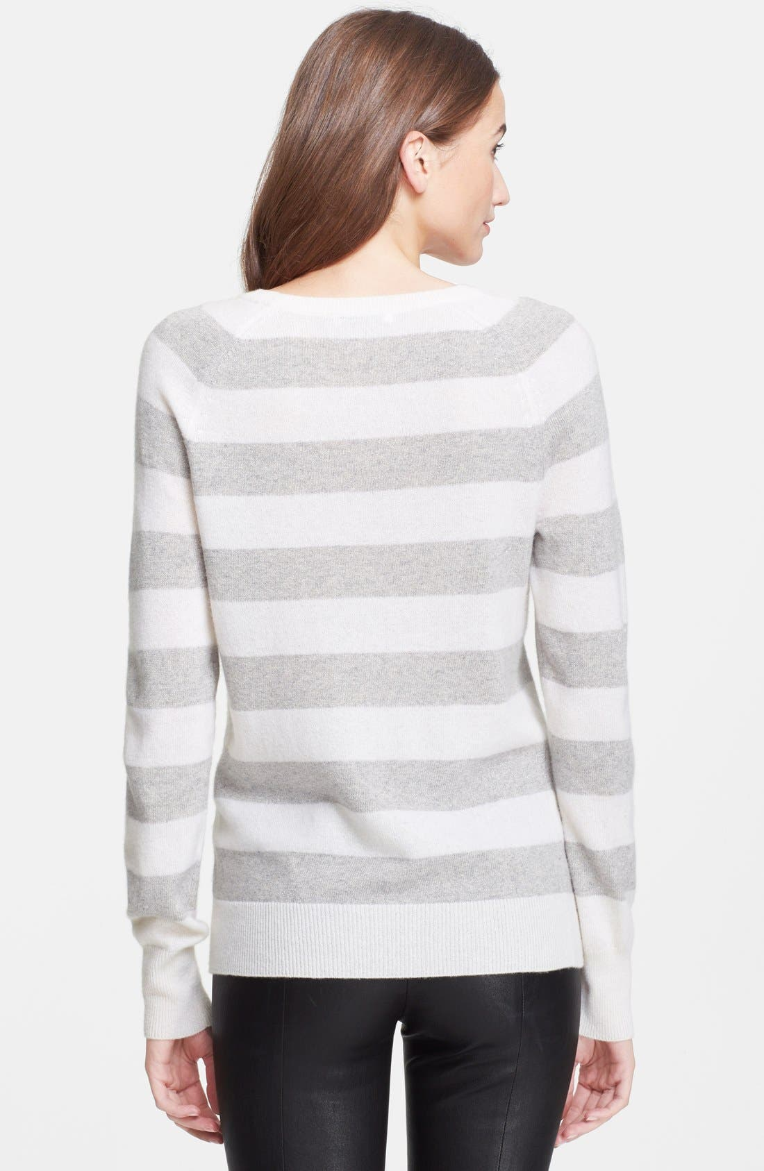 Alternate Image 2  - Equipment 'Sloane' Metallic Stripe Cashmere Sweater