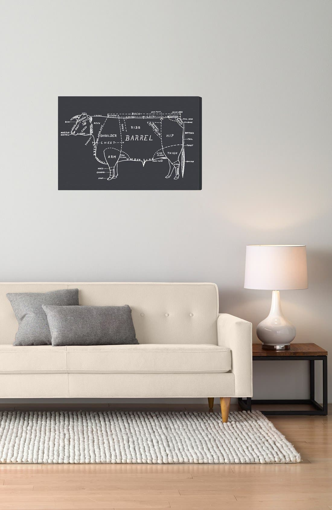 'Beef' Wall Art,                             Alternate thumbnail 2, color,                             Grey
