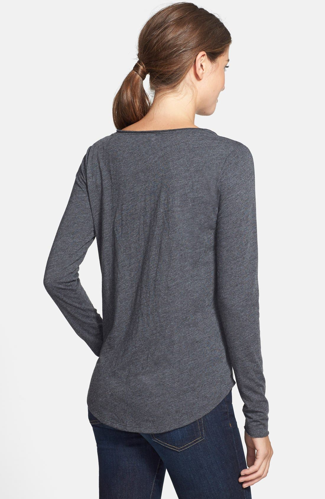 Alternate Image 2  - Lucky Brand Stud Front Tee