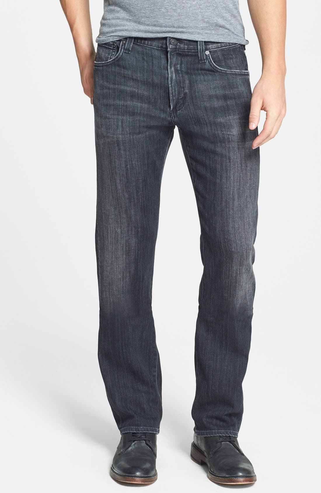 'Sid' Classic Straight Leg Jeans,                             Main thumbnail 1, color,                             Crow
