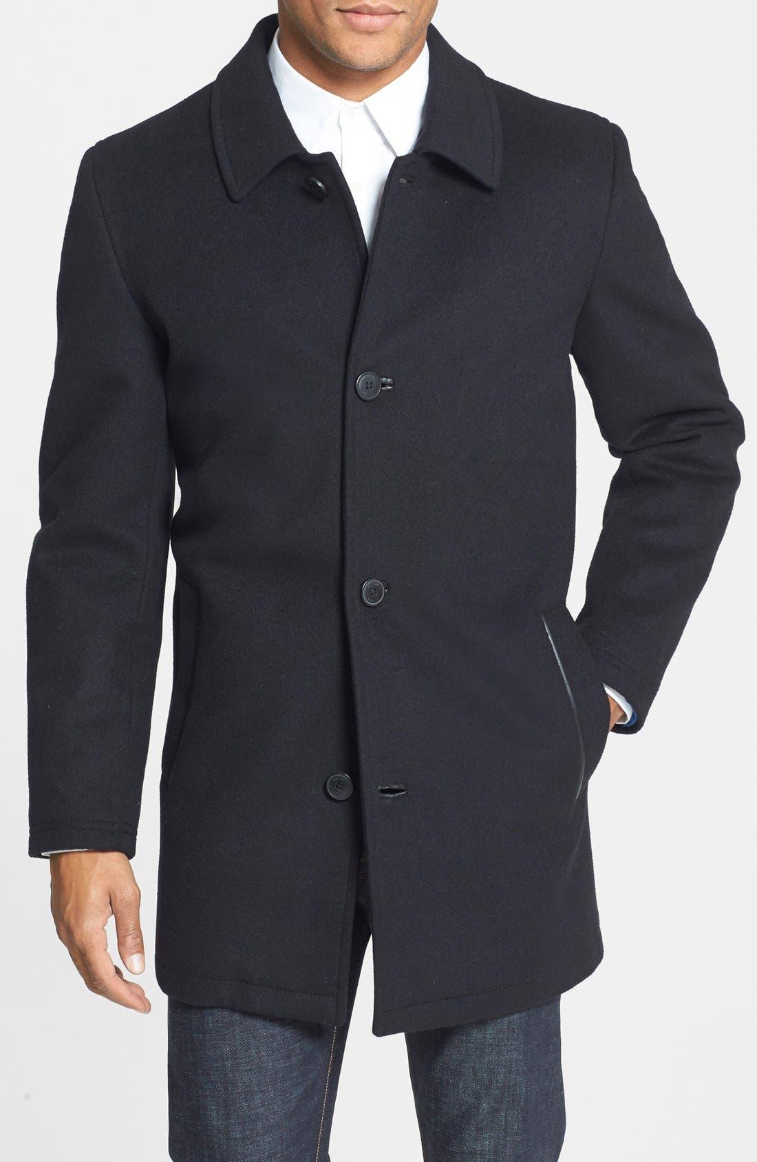 Vince Camuto Water Repellent Wool Blend Car Coat