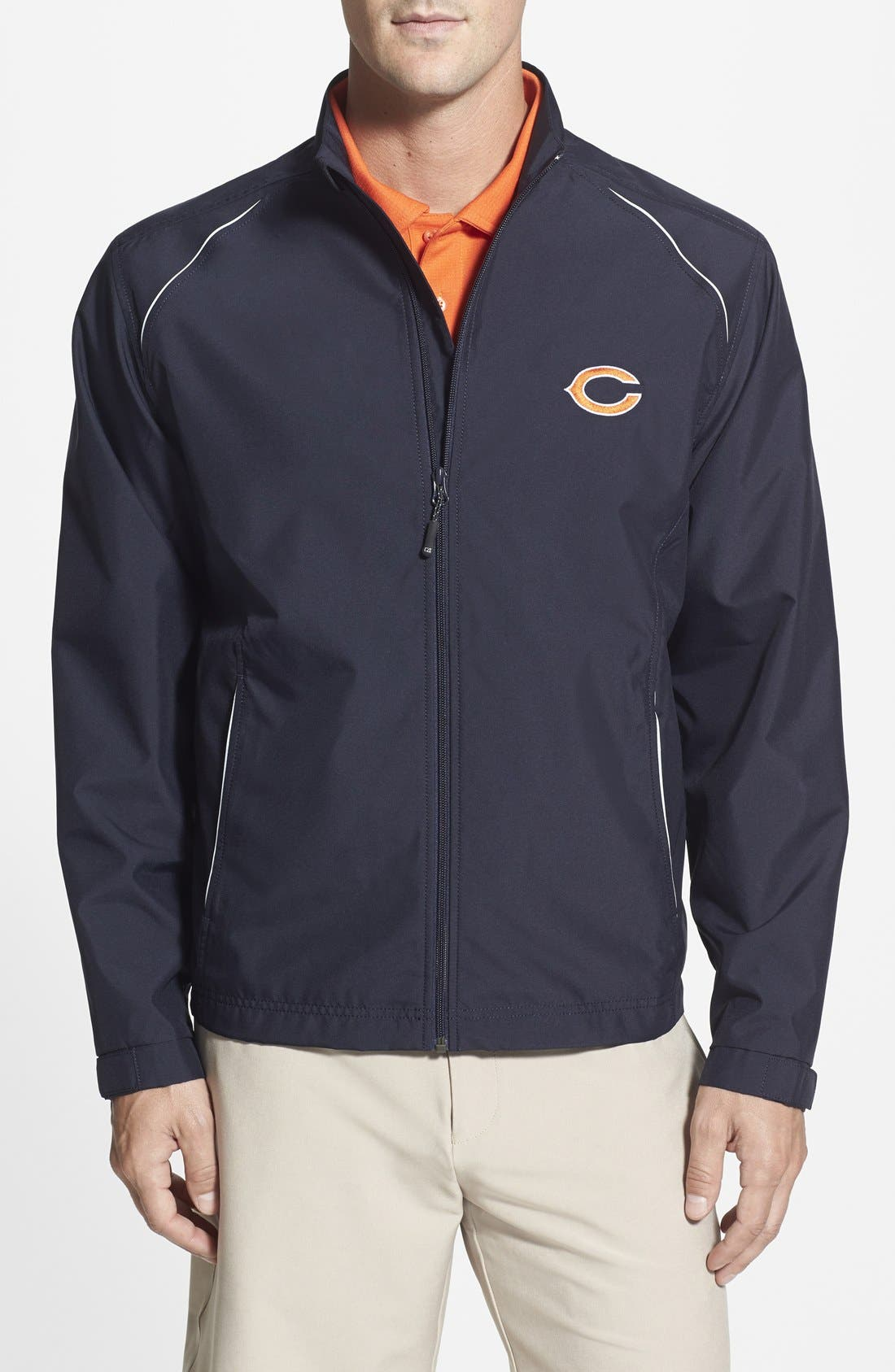 'Chicago Bears - Beacon' WeatherTec Wind & Water Resistant Jacket,                         Main,                         color, Navy