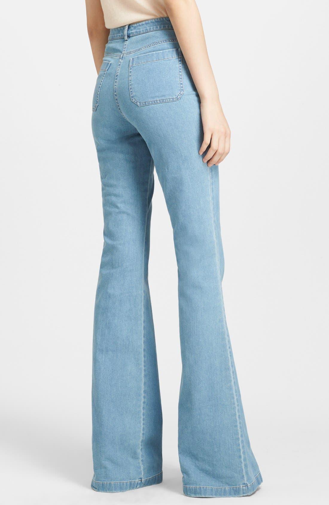 Alternate Image 2  - Michael Kors Bell Bottom Stretch Jeans