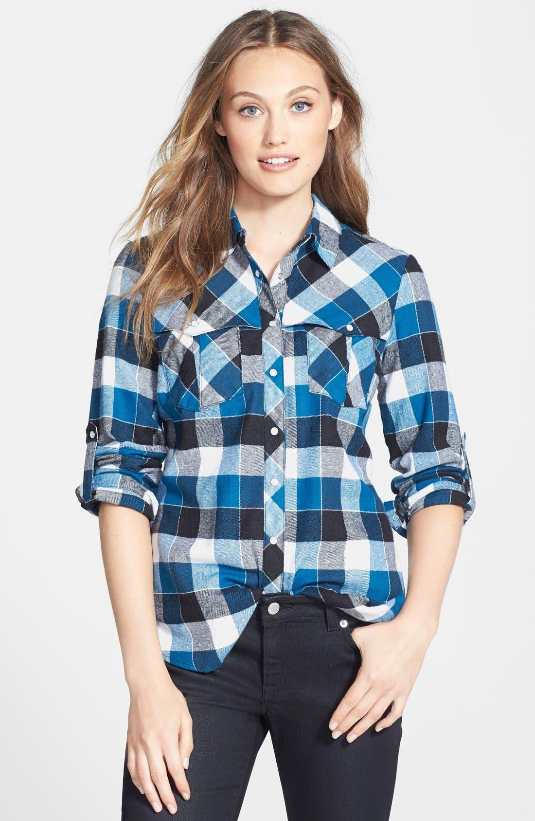 Alternate Image 1 Selected - Sandra Ingrish Plaid Flannel Shirt
