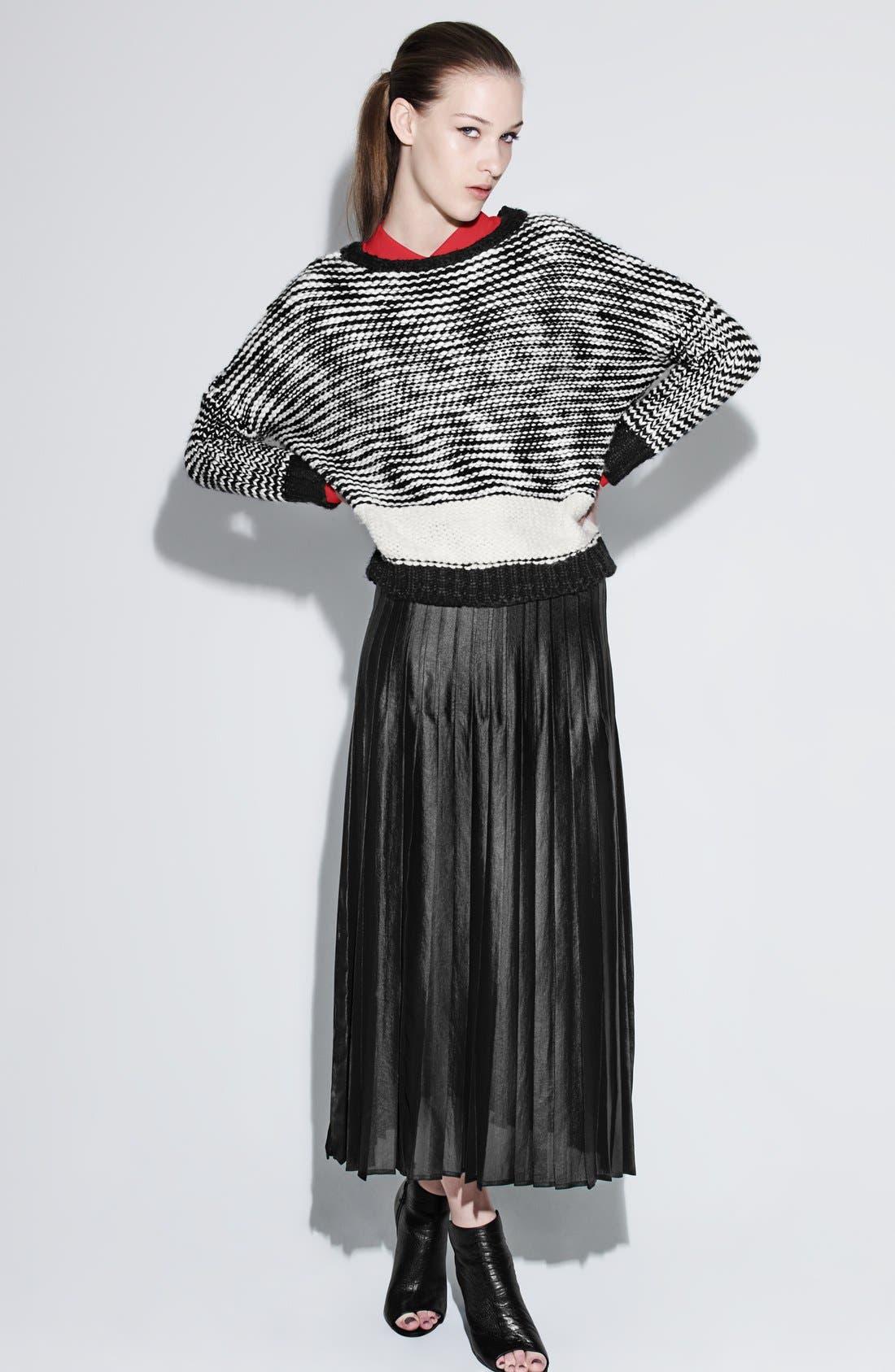 Pleat Midi Skirt,                             Alternate thumbnail 4, color,