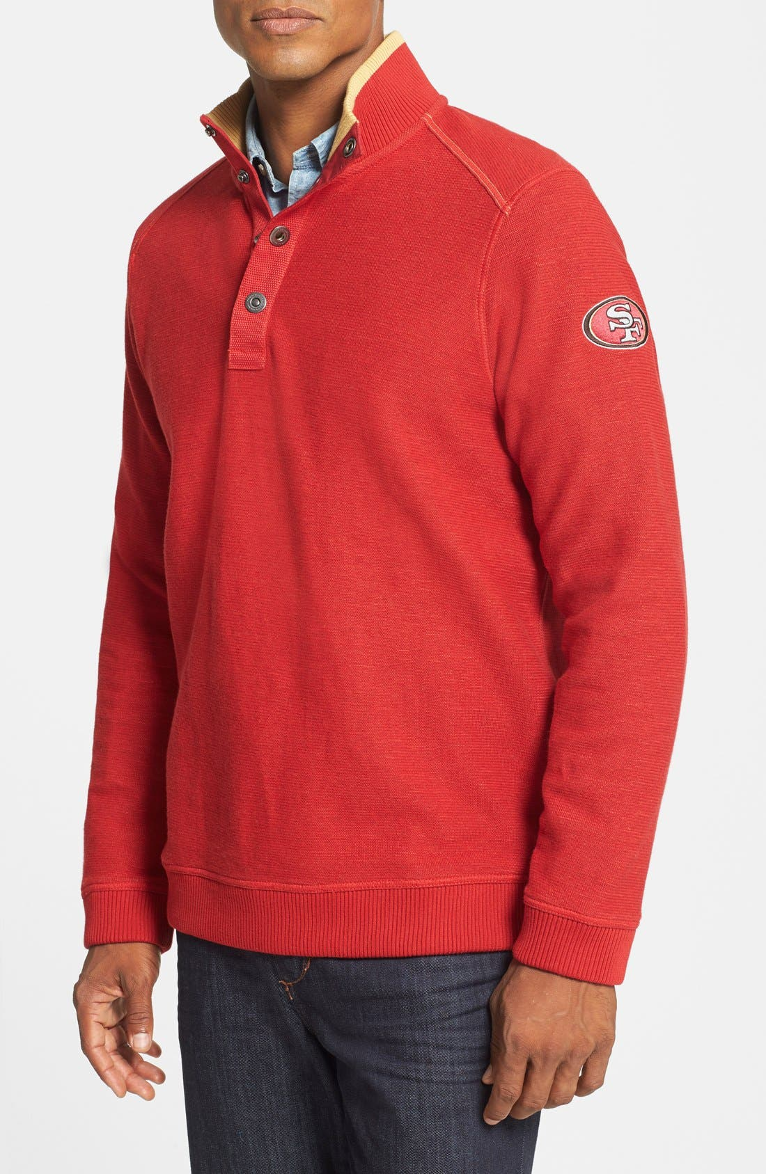 Alternate Image 1 Selected - Tommy Bahama 'San Francisco 49ers - NFL Scrimshaw' Pullover