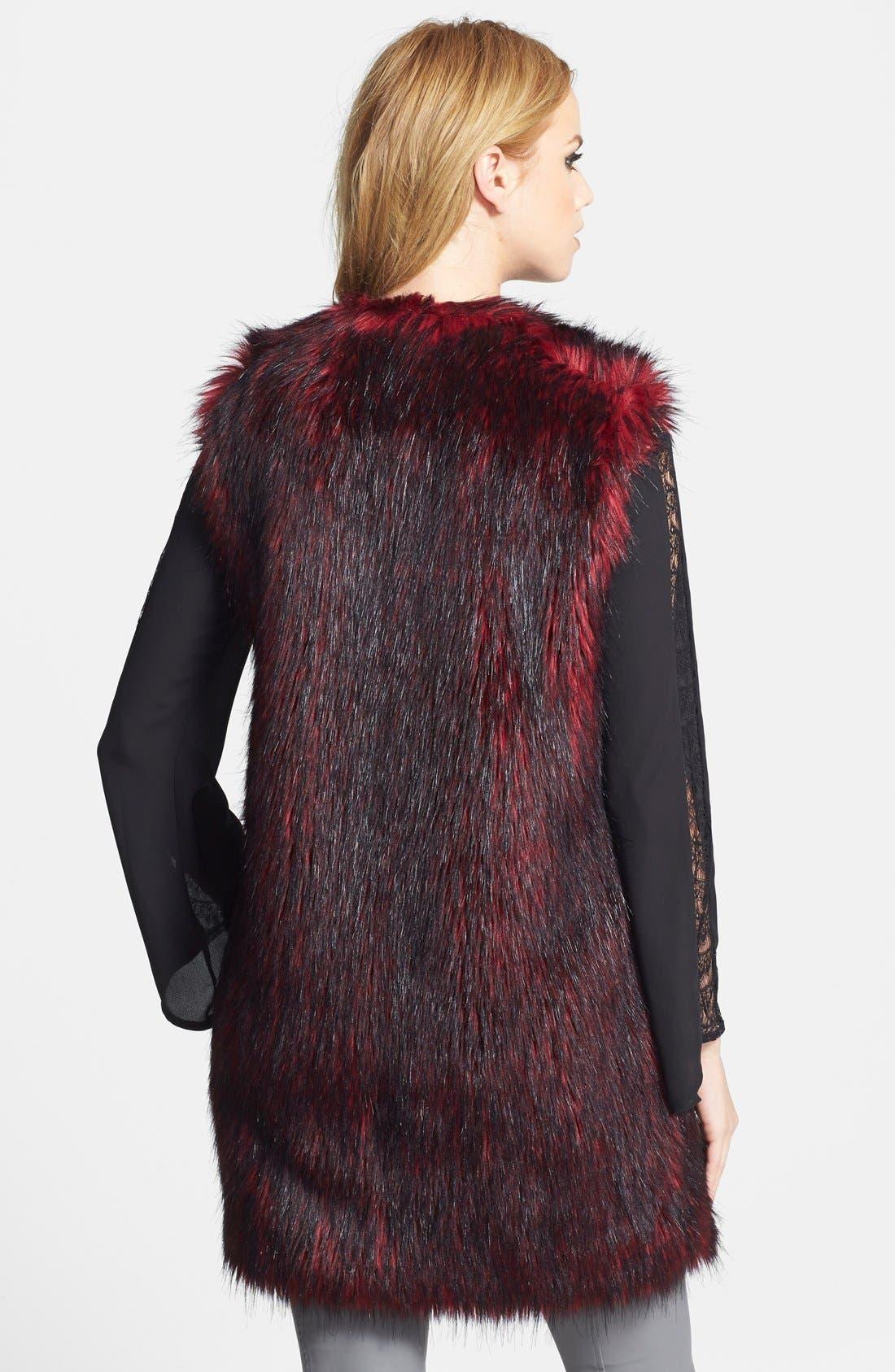 Alternate Image 2  - WAYF Faux Fur Long Vest