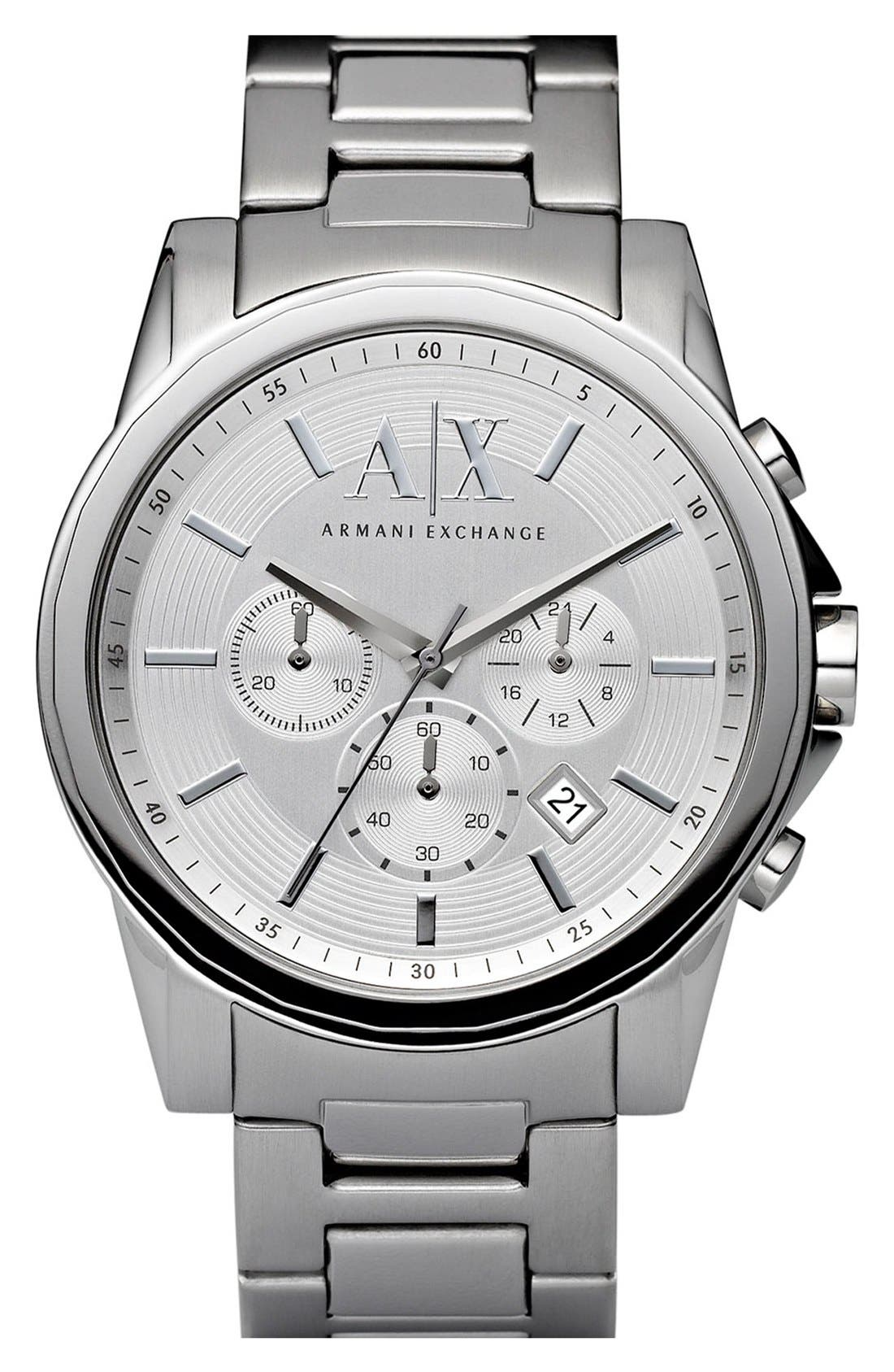 Main Image - AX Armani Exchange Round Chronograph Watch, 45mm