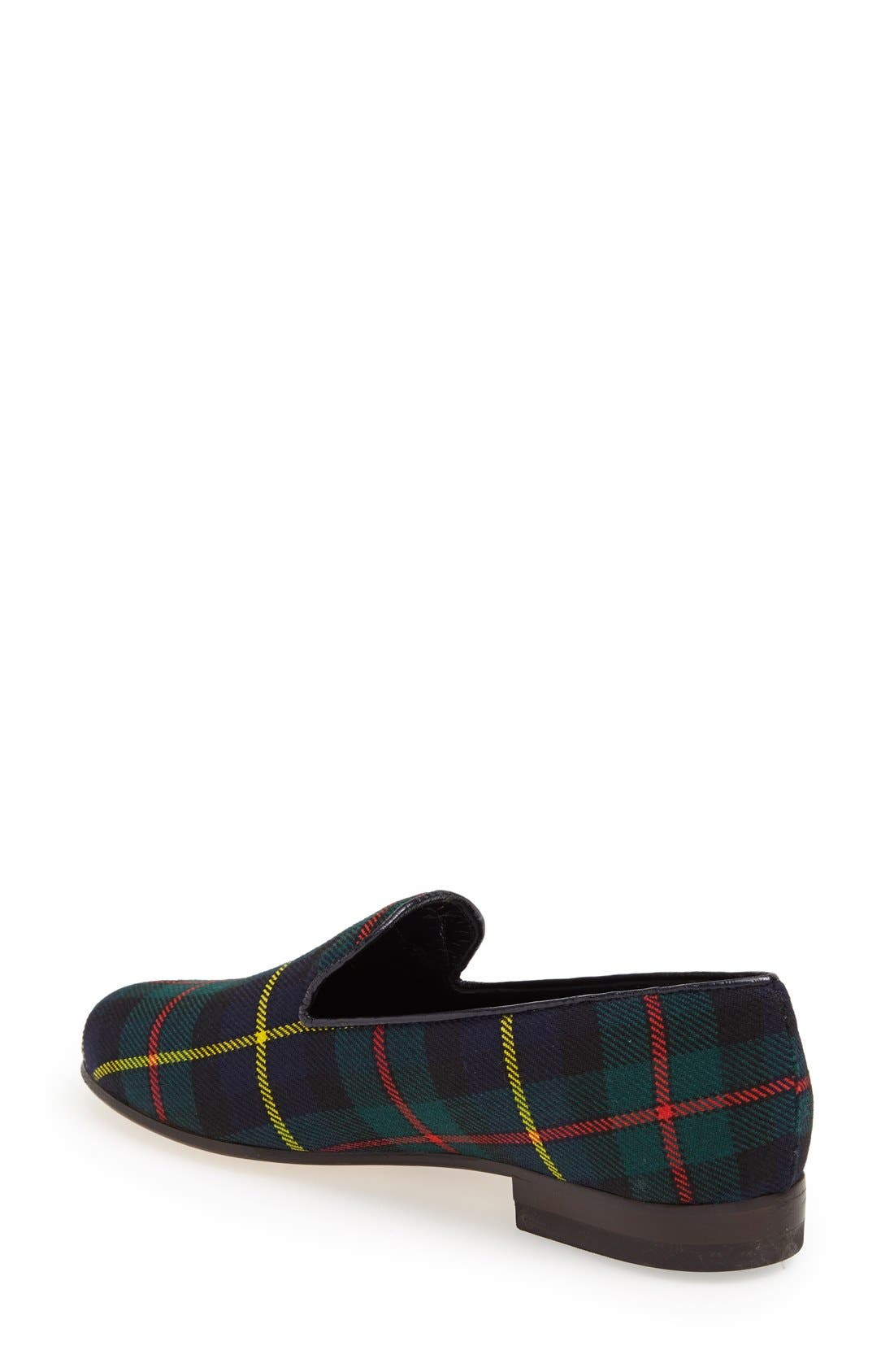 Alternate Image 2  - CB Made in Italy Plaid Smoking Loafer (Women)