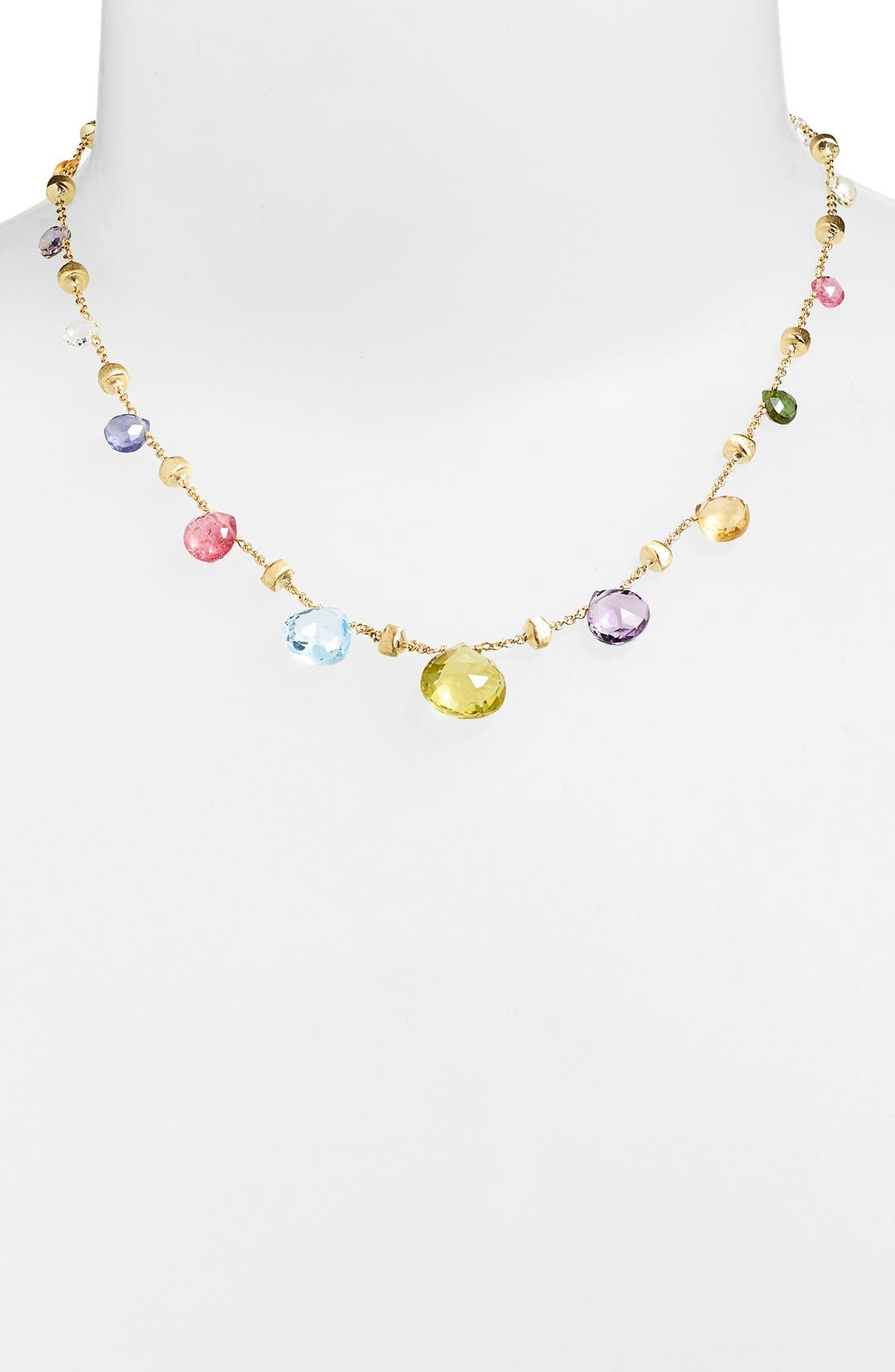 'Paradise' Collar Necklace,                             Main thumbnail 1, color,                             Multi/ Yellow Gold