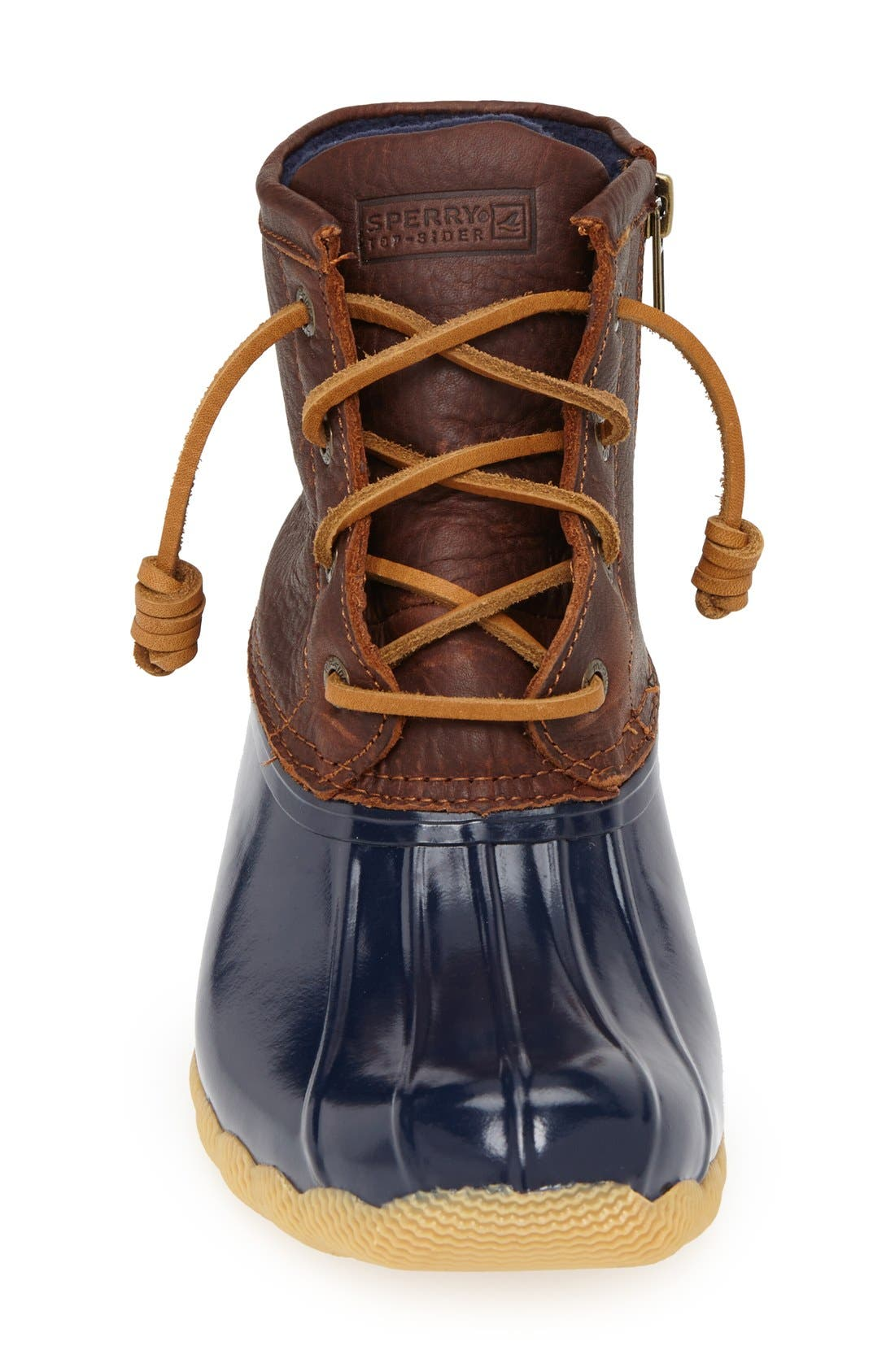 Saltwater Duck Boot,                             Alternate thumbnail 3, color,                             Tan/ Navy