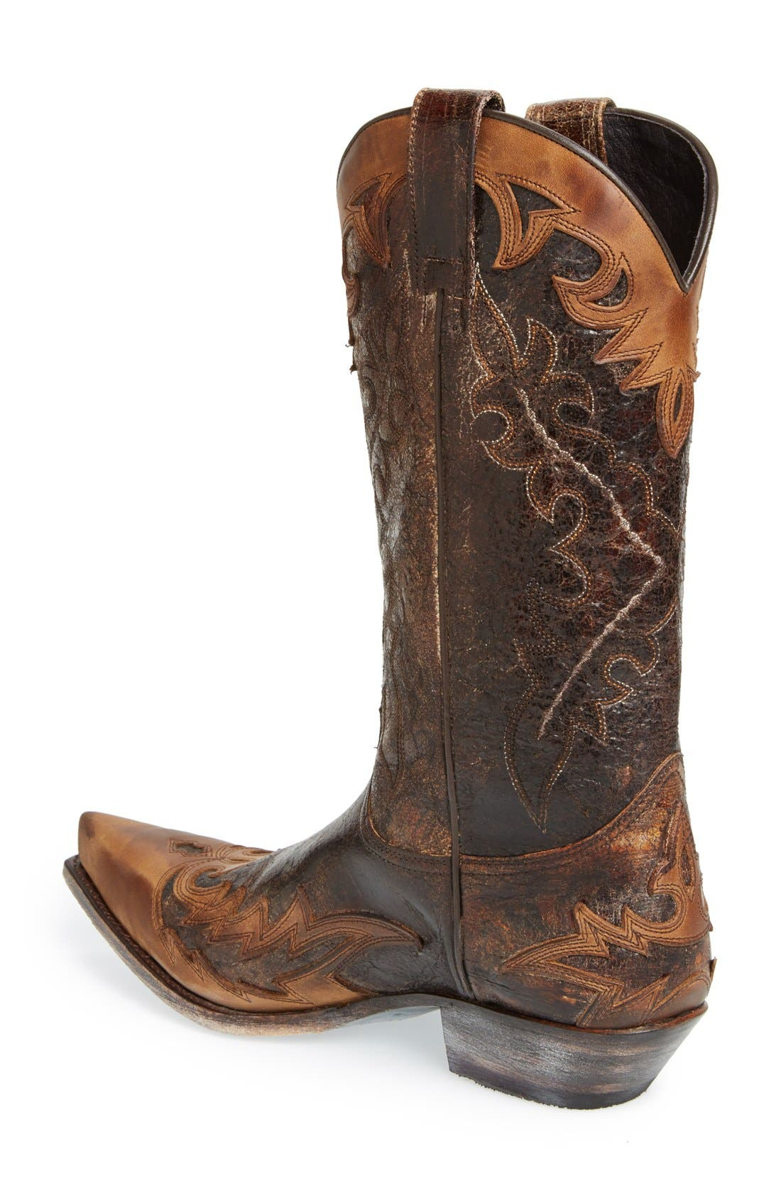 'Carson' Cowboy Boot,                             Alternate thumbnail 2, color,                             Tan