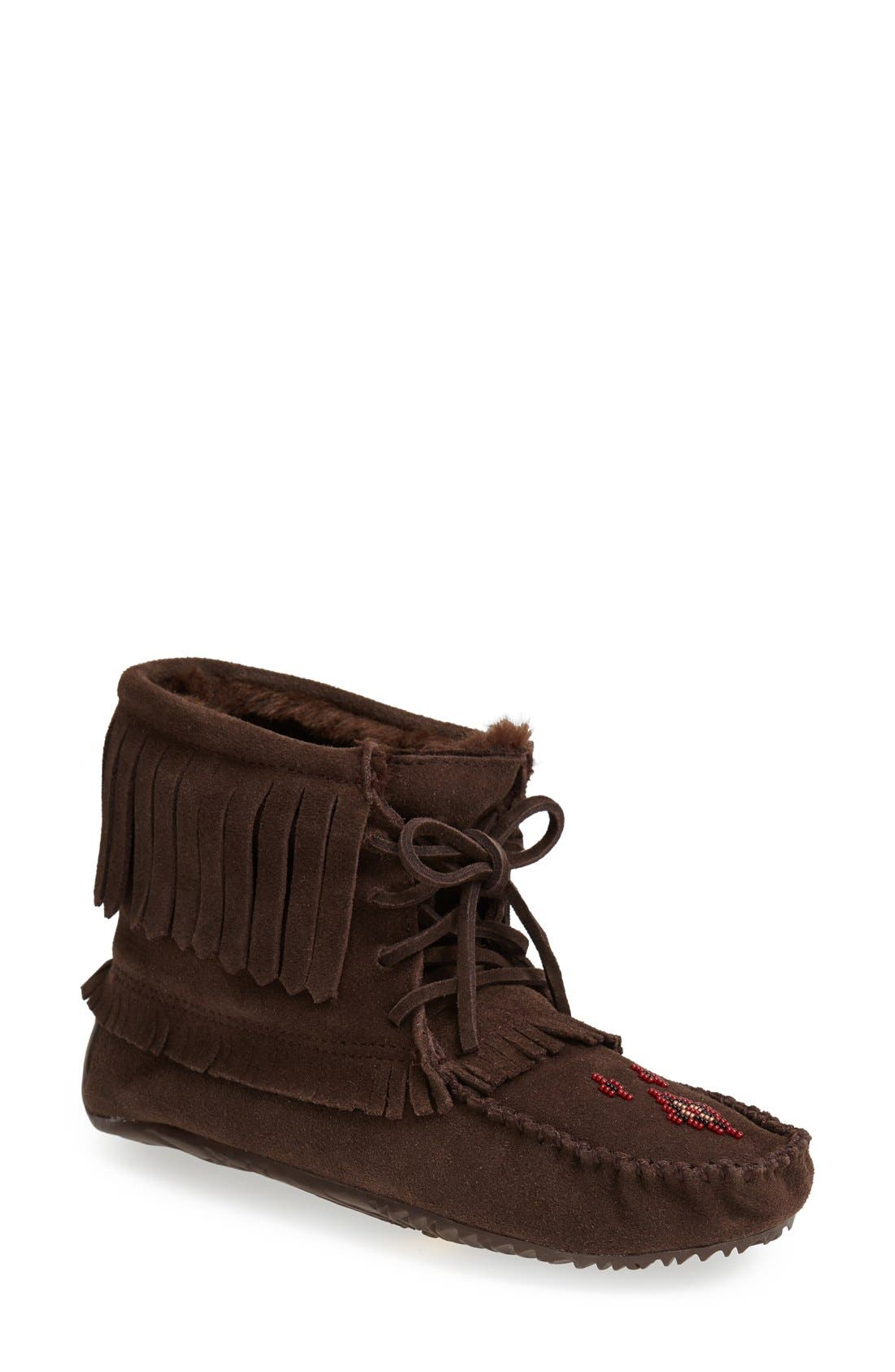 'Harvester' Moccasin,                             Main thumbnail 1, color,                             Chocolate