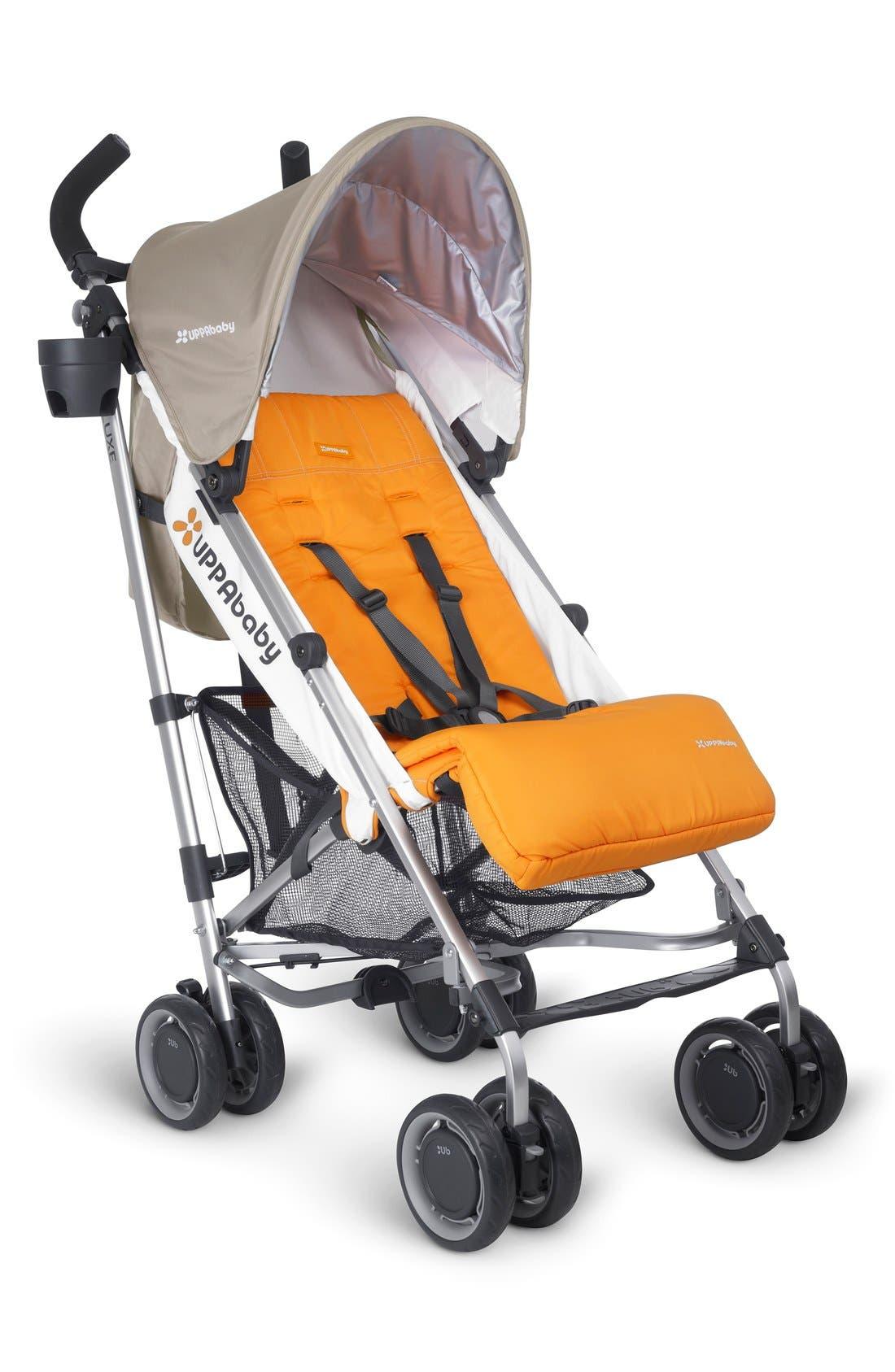 2015 G-LUXE - Aluminum Frame Reclining Umbrella Stroller,                         Main,                         color, Ani Orange